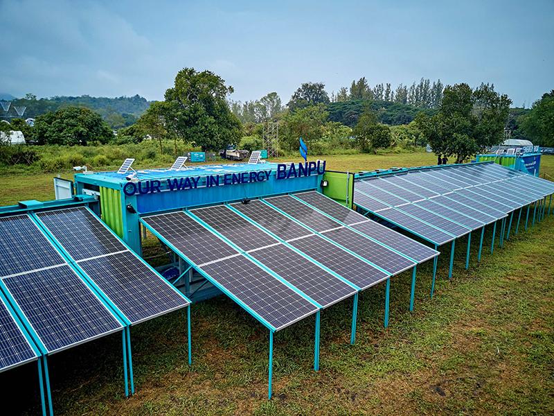 ตู้ผลิตไฟฟ้าจากพลังงานแสงอาทิตย์ (Banpu Solar Box)