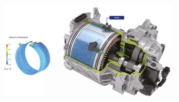 ตัวอย่างระบบระบายความร้อนใน E-Axle