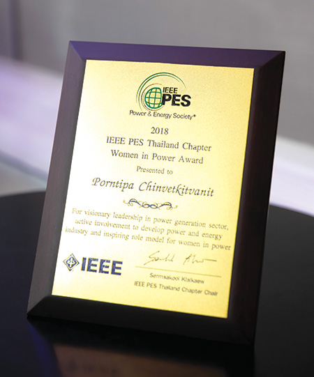 รางวัล IEEE PES Thailand Chapter Women in Power Award 2018