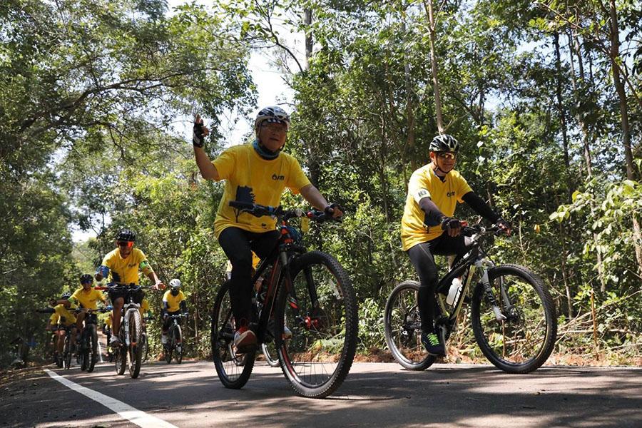 เส้นทางจักรยานศึกษาธรรมชาติในแปลงปลูกป่า FPT 49 จ.นครราชสีมา เฉลิมพระเกียรติ ร.10