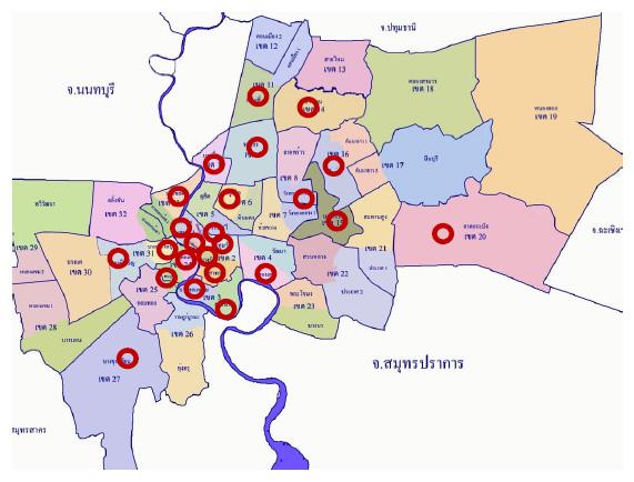 สถานีตรวจวัดคุณภาพอากาศที่ตรวจวัด PM2.5 ของกรุงเทพมหานคร