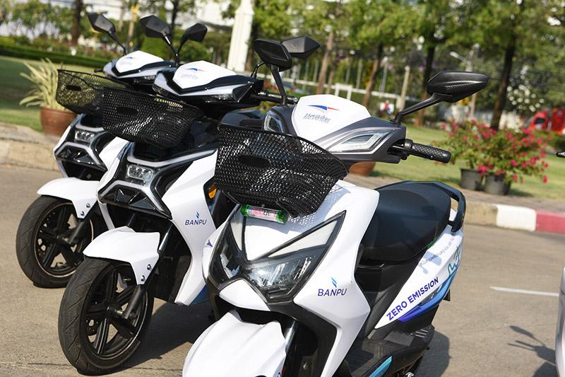 รถจักรยานยนต์ไฟฟ้า โครงการบริหารจัดการยานยนต์ไฟฟ้าแบบครบวงจรเพื่อขนส่งสินค้า-พัสดุไปรษณีย์
