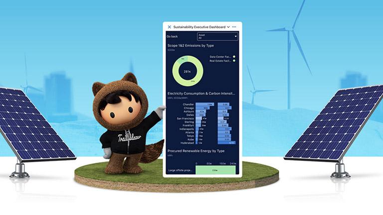 Salesforce Sustainability Cloud ลดปริมาณก๊าซคาร์บอนไดออกไซด์ทีปล่อยสู่อากาศ