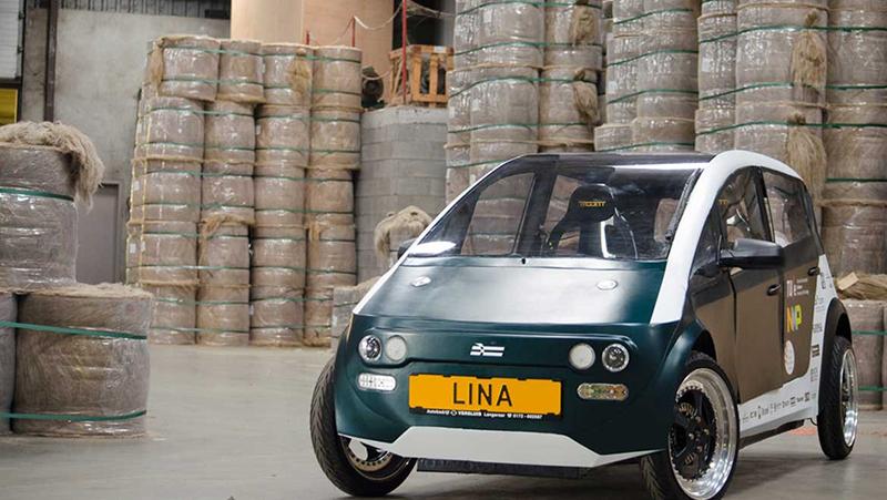 LINA รถยนต์คันแรกที่สร้างจากวัสดุธรรมชาติในชิ้นส่วนตัวถังและชิ้นส่วนภายในทั้งหมด