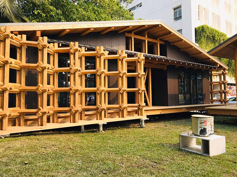 """""""ต้นแบบเรือนไม้ประหยัดพลังงาน"""" (Japanese Tea Pavilion)"""