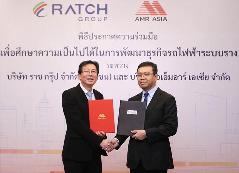 ราช กรุ๊ป จับมือ เอเอ็มอาร์ เอเชีย พัฒนาธุรกิจรถไฟฟ้าระบบราง