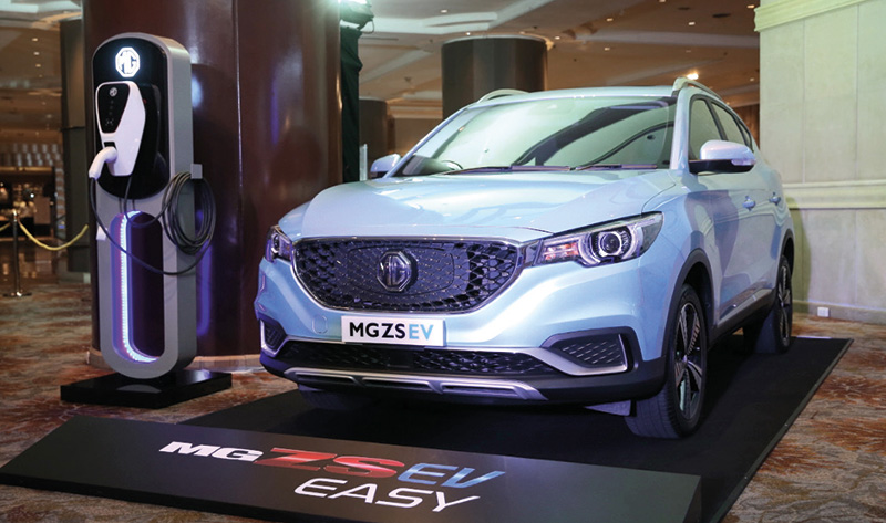 MG ZS EV ขับเคลื่อนด้วยพลังงานไฟฟ้า 100%