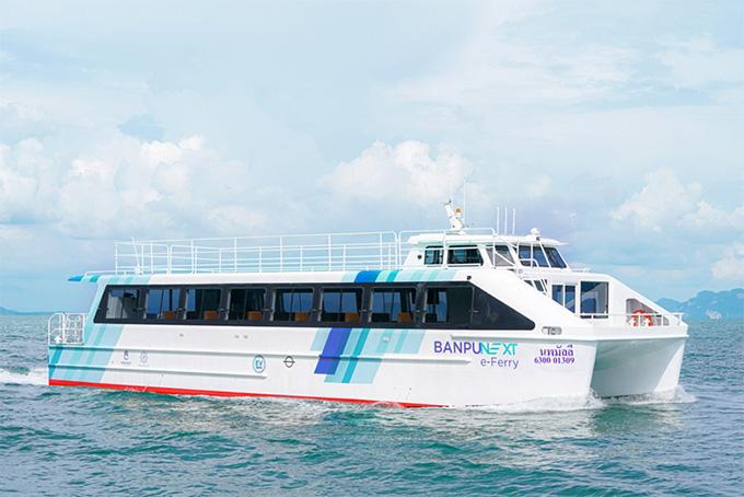 """""""นพมัลลี"""" เรือท่องเที่ยวไฟฟ้าทางทะเลลำแรกของไทย 'บ้านปู เน็กซ์ อีเฟอร์รี่' (Banpu NEXT e-Ferry)"""