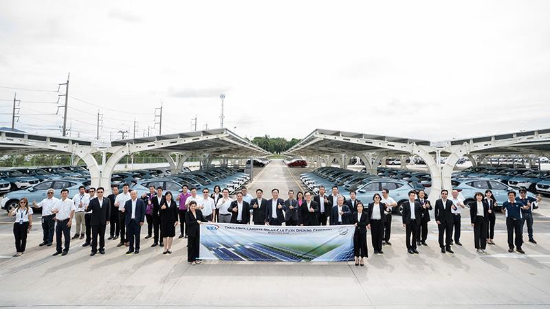 """โครงการ """"SAIC MOTOR-CP Solar Carpark"""" ระบบผลิตไฟฟ้าจากพลังงานแสงอาทิตย์บนหลังคาที่จอดรถ (Solar Carpark)"""