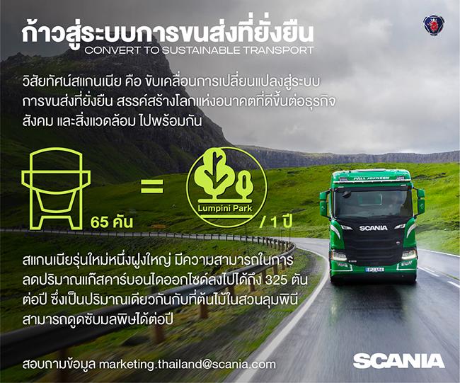 สแกนเนีย เดินหน้าเป้าหมายสู่ความยั่งยืน ลดการปล่อยก๊าซคาร์บอนไดออกไซด์
