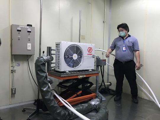 ห้องทดสอบแอร์ที่ใช้สารทำความเย็นธรรมชาติ