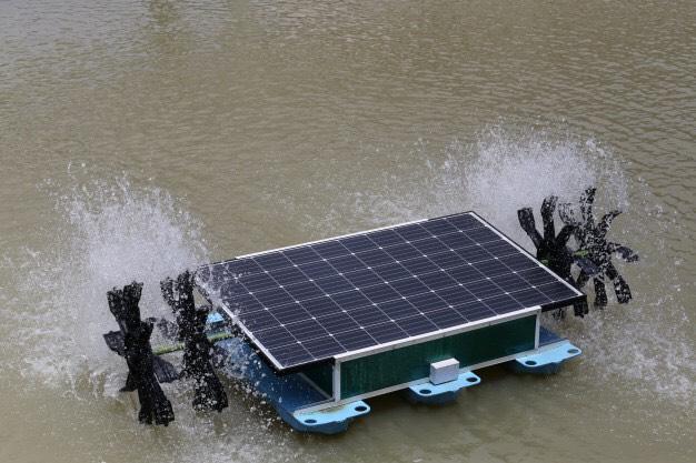 แผงเซลล์พล้งงานแสงอาทิตย์บนผิวน้ำ (Solar Cell Floating)