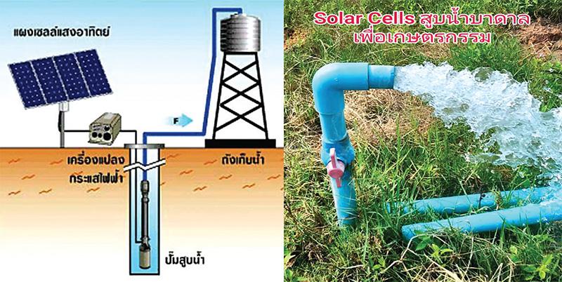 โซลาร์เซลล์สูบน้ำบาดาลสำหรับภาคเกษตรกรรม