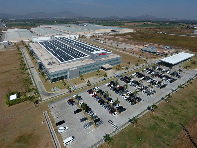 ติดตั้งระบบผลิตไฟฟ้าจากเซลล์แสงอาทิตย์ขนาด 1 เมกะวัตต์ (MW) ที่โรงงานระบบอัจฉริยะของบ๊อชในนิคมอุตสาหกรรมดับบลิวเอชเอ