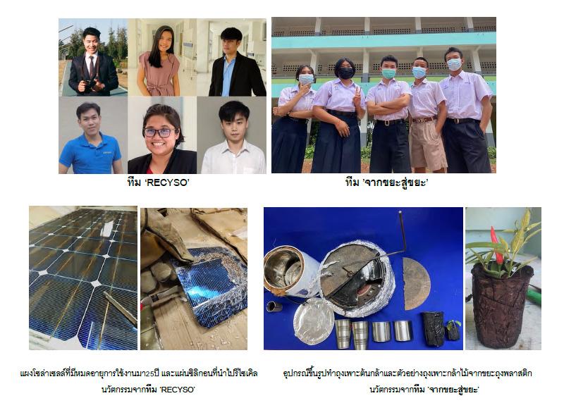 ผู้รางวัลชนะเลิศโครงการประกวดนวัตกรรมเศรษฐกิจหมุนเวียน