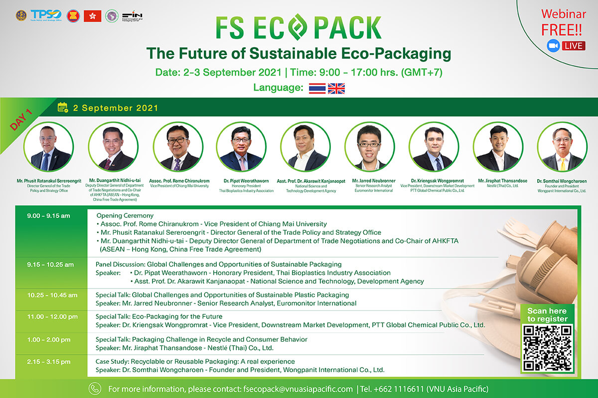 The Future for Sustainable Eco-Packaging