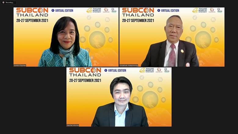 งาน SUBCON Thailand 2021 ระหว่างวันที่ 20 – 27 กันยายน 2564